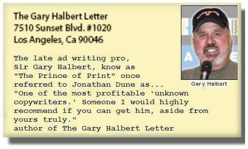 Gary Halbert testimonial
