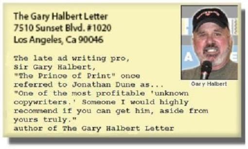 Gary Halbert endorsement
